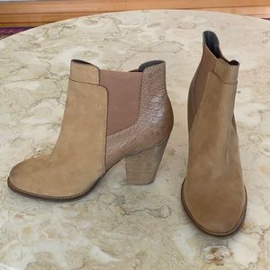 Aldo Leather Western Style Ankle Booties